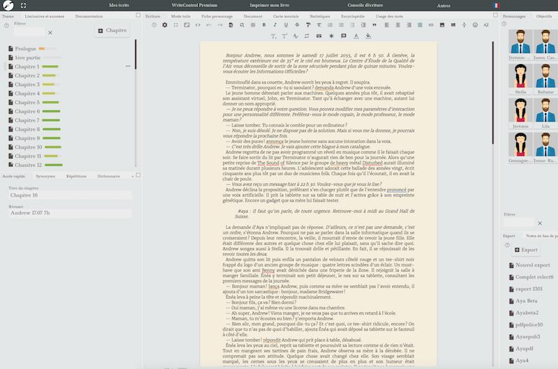 Writecontrol, logiciel d'écriture en ligne